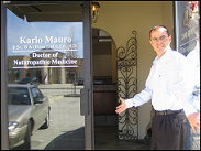 Dr. Mauro practices out of his clinic in Windsor, Ontario on the border to Detroit.